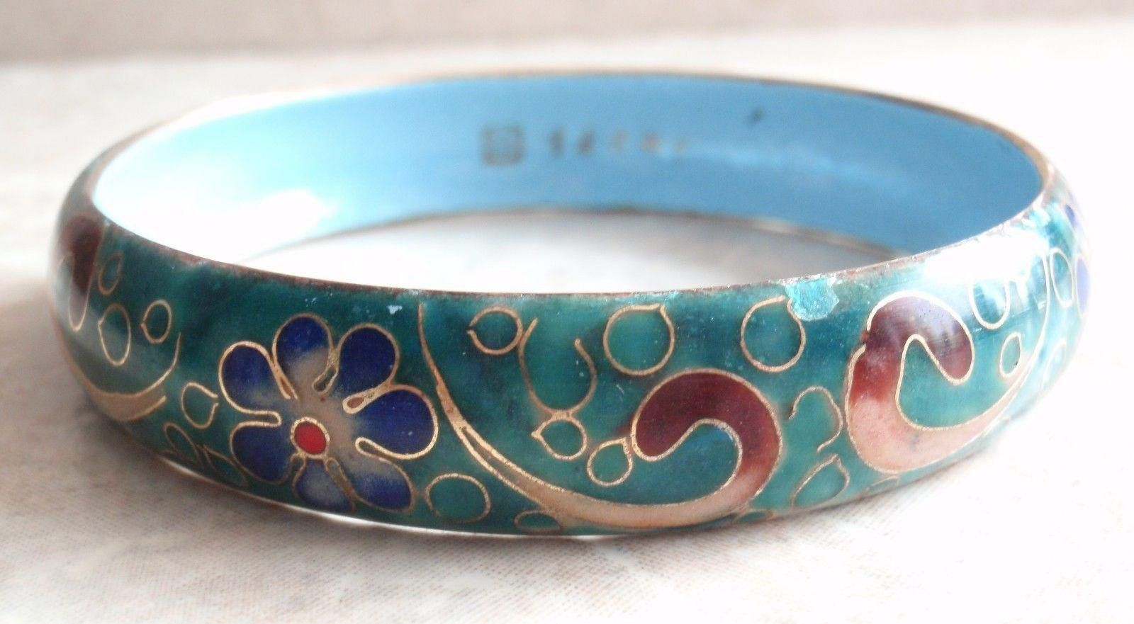 Enamel jewelry. Handmade Bracelet Silver Bracelet Handmade jewelry Handmade Red Bracelet Red Cloisonne enamel Bracelet