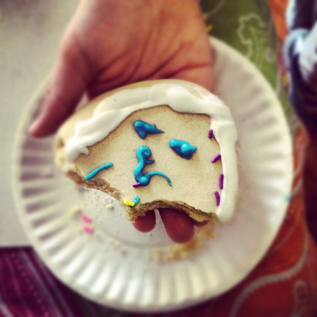 This photo I did is of a cookie.