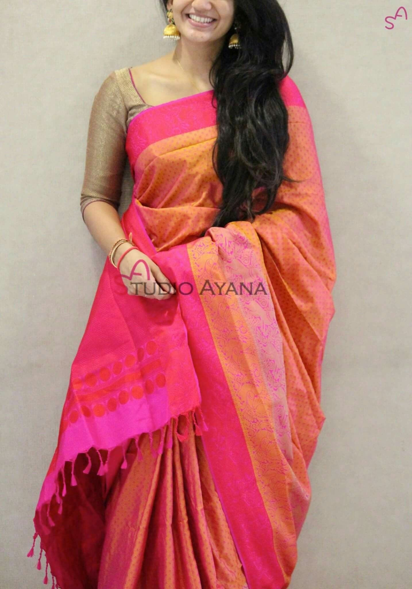 Pin By Swathe Sri On Silksaree Saree Dress Sari Blouse