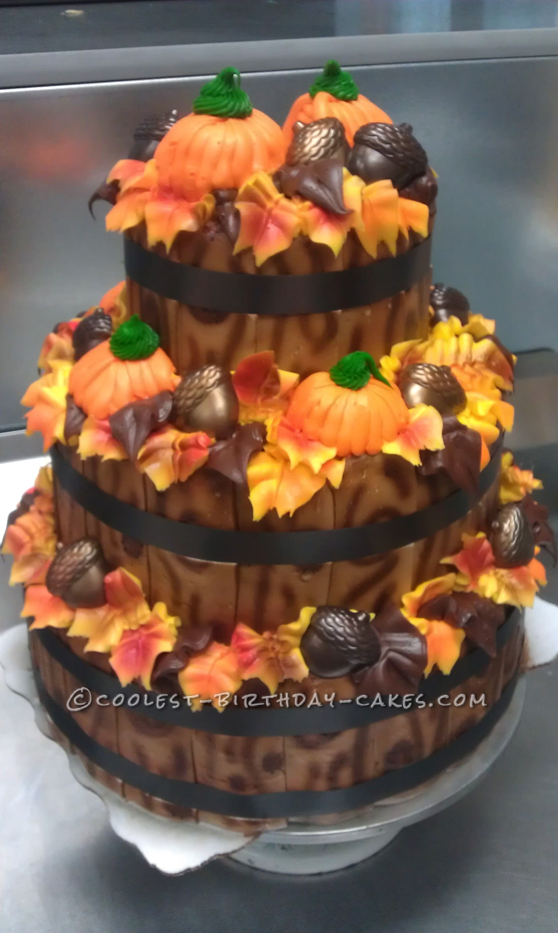 Fall Time Display Cake