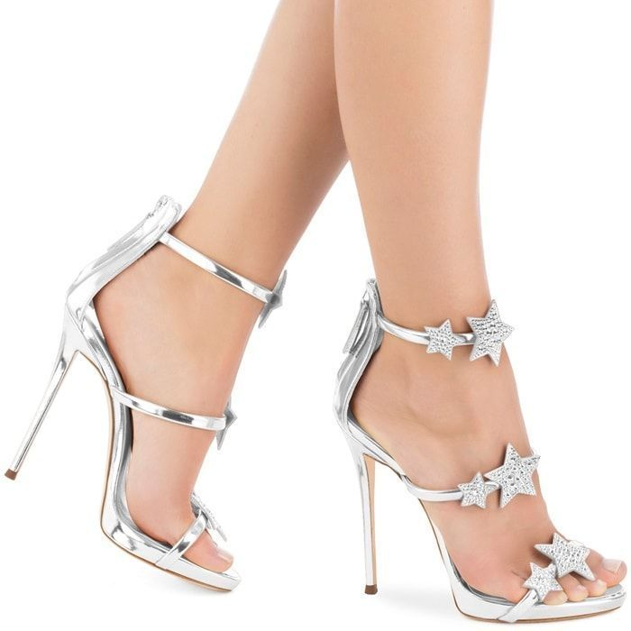 Giuseppe Zanotti Metallic leather Harmony Star sandals mri9HE8dxd