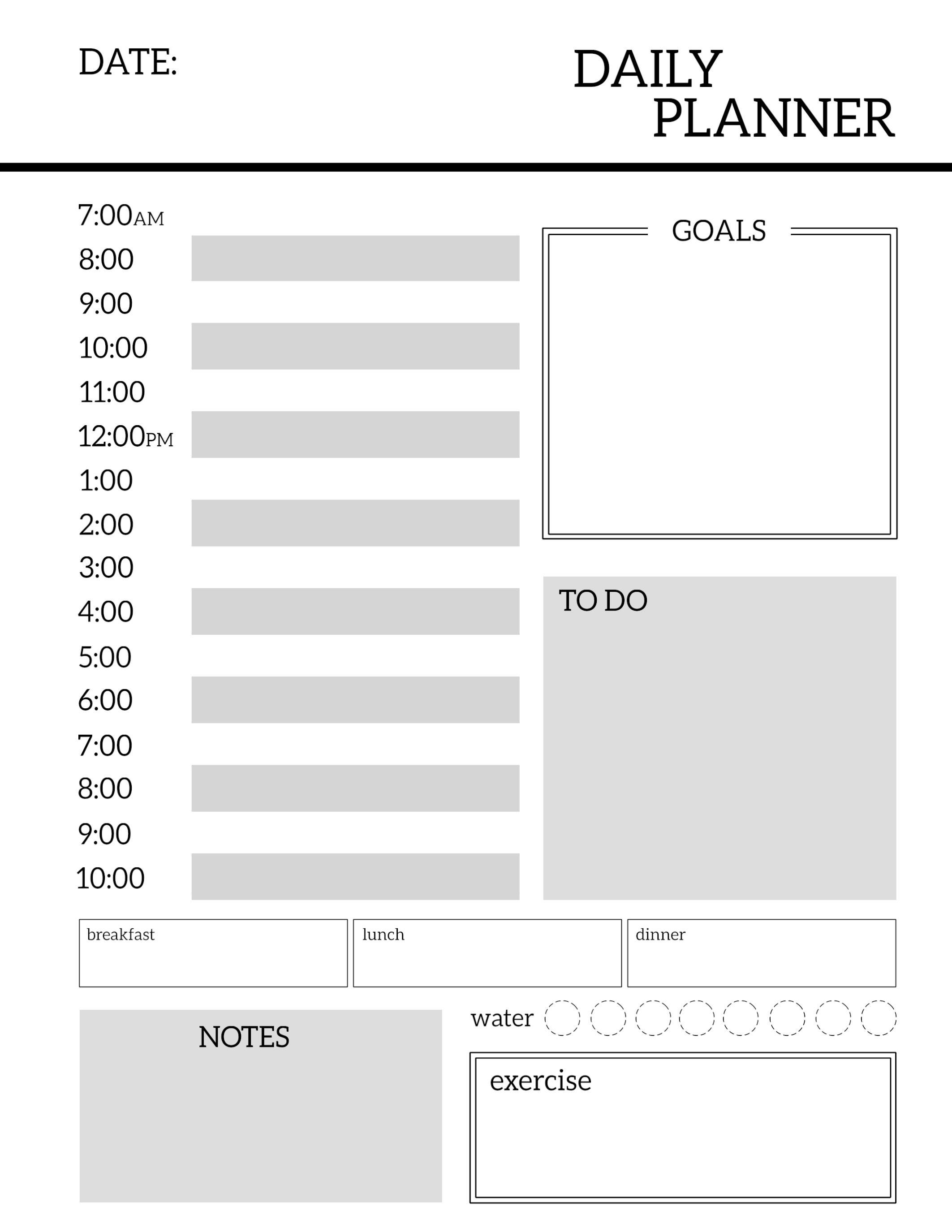 Free Printable Meal Planner Template Journal Pinterest