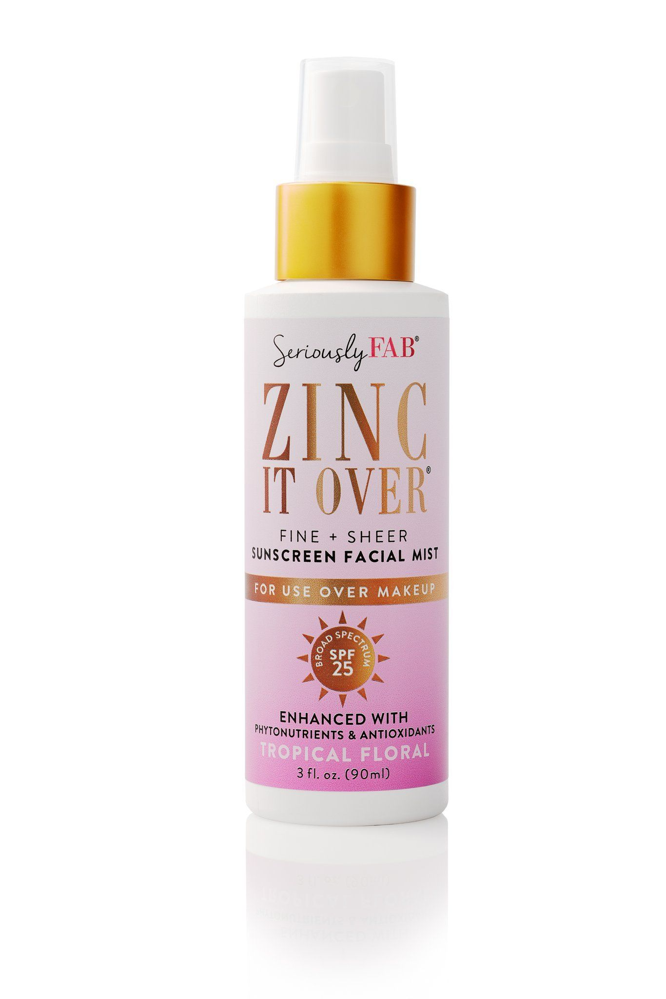 Zinc it Over Sunscreen & Makeup Setting Mist (Tropical