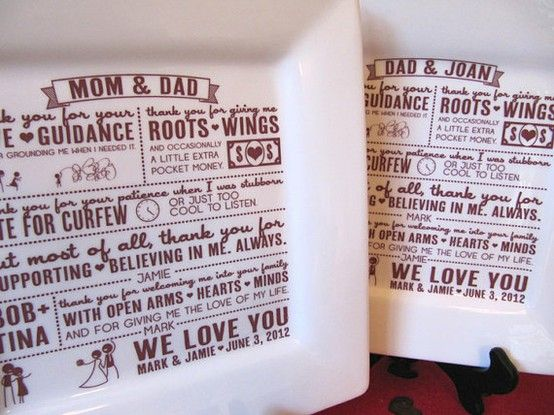 Parent Wedding Gift set | ~ 4 • 25 • 2015 ~ | Pinterest | Wedding ...