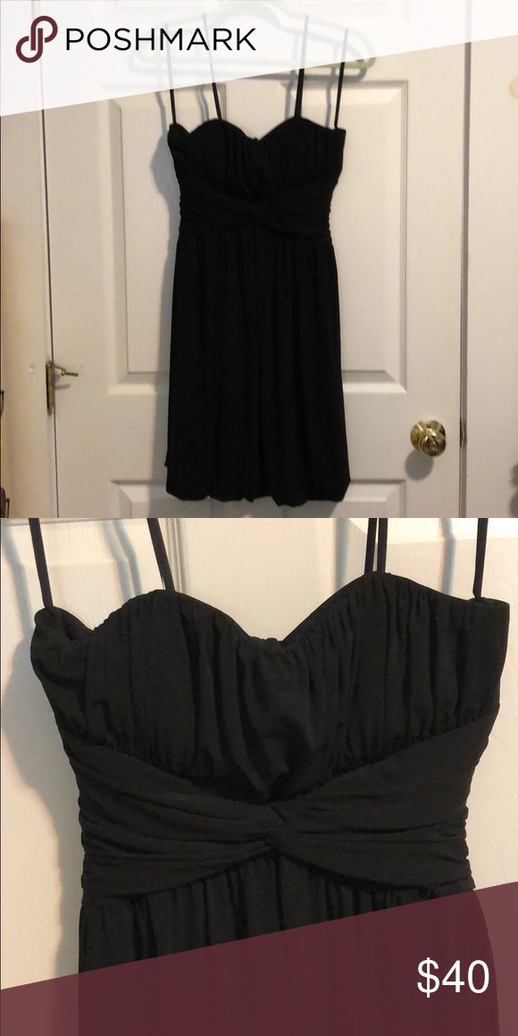 4c22dfa2d9f25 Strapless Little Black Dress Strapless little black dress with twist waist  detail Max & Cleo Dresses Strapless