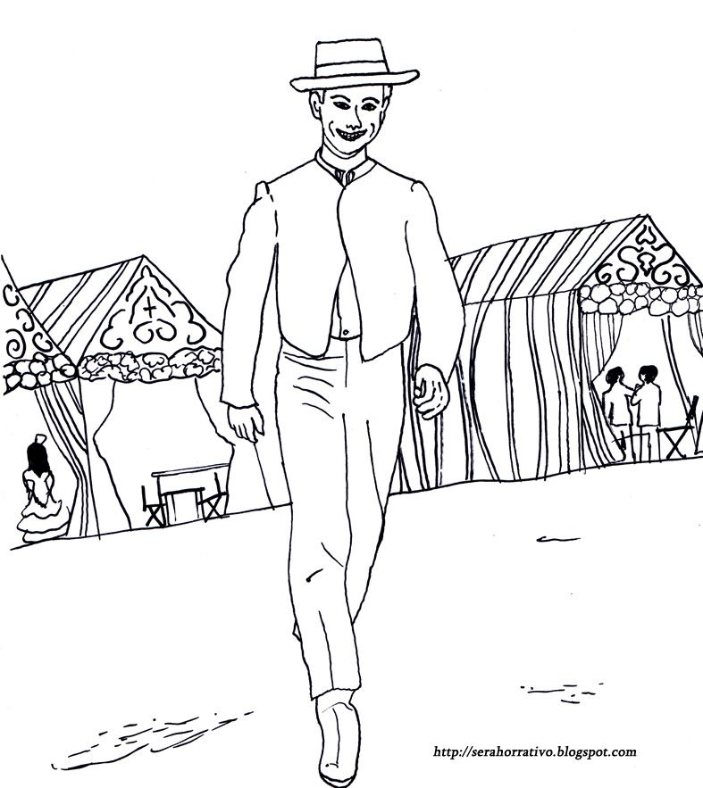 Ser ahorrativo: Dibujos gratis para colorear de la feria de Sevilla ...