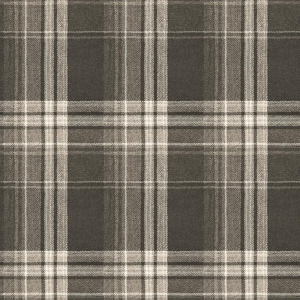 Chesapeake Saranac Dark Brown Flannel Dark Brown Wallpaper Sample-3118-12671SAM - The Home Depot