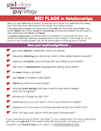 Dating red flags