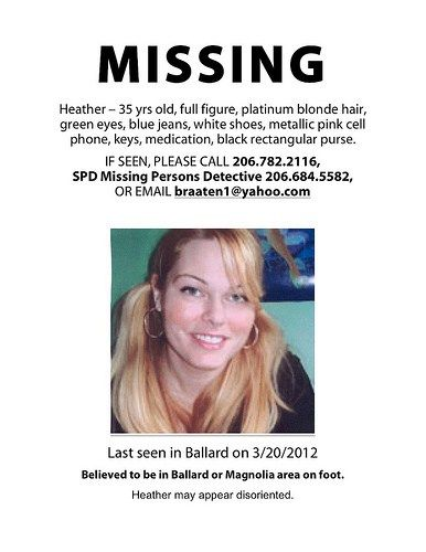 Missing person Heather Braaten (aka u201cLEGO Girlu201d) The Brothers - missing person picture