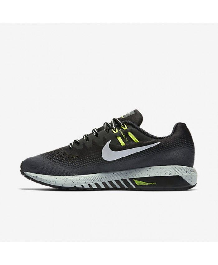 best authentic c5c71 d6e57 Nike Air Zoom Structure 20 Shield Black Dark Grey Wolf Grey Metallic Silver  Mens Running Shoes