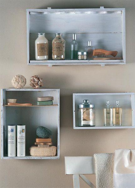 Wall Mounted Box Shelves A Trendy Variation On Open Shelves Diy Bathroom Storage Diy Shelves Wall Shelves Design