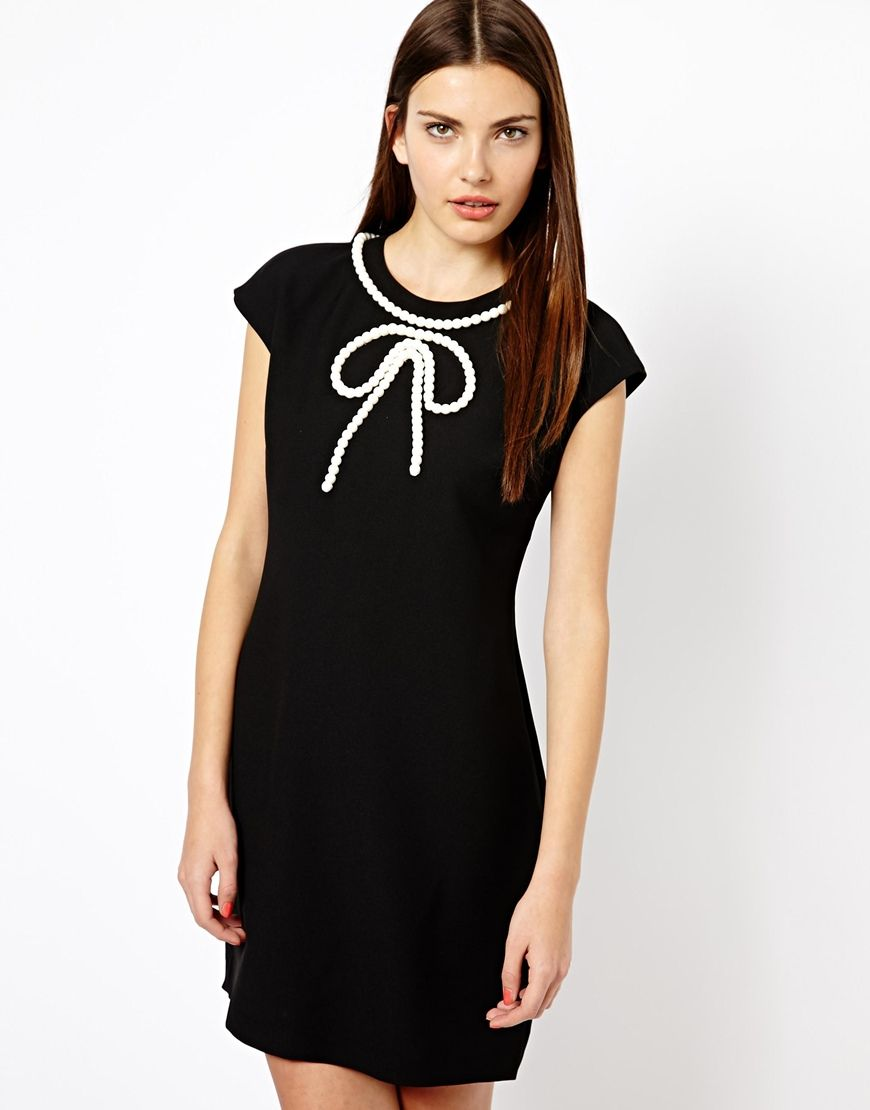 Ted Baker Mini Dress with Beaded Bow Detail