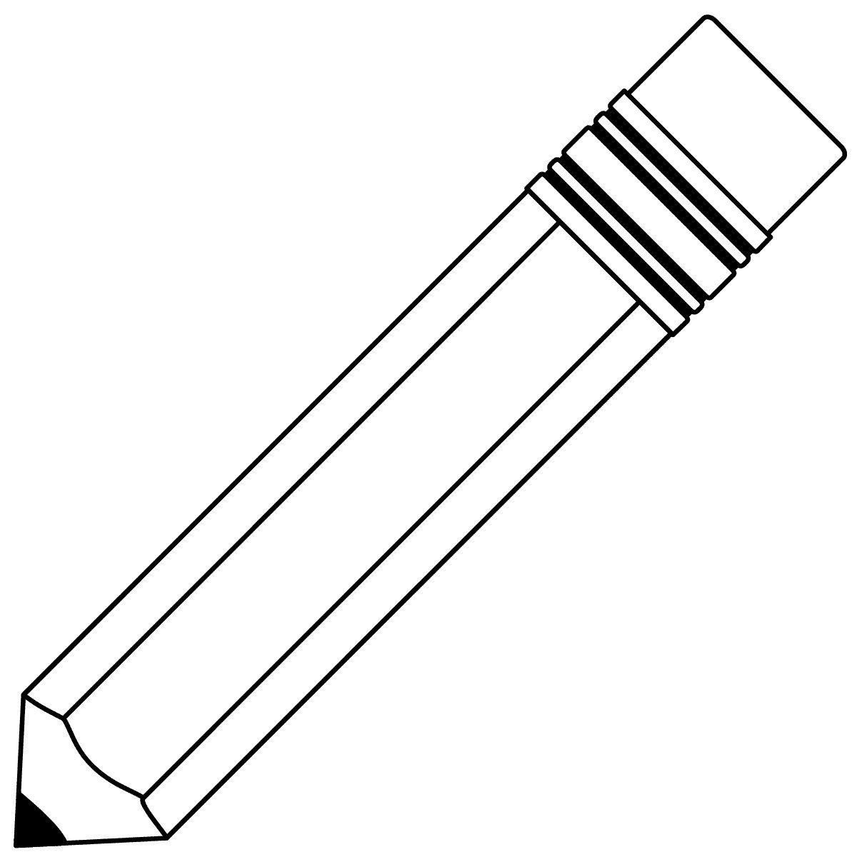Pencil for door decs Pencil clipart, Coloring pages