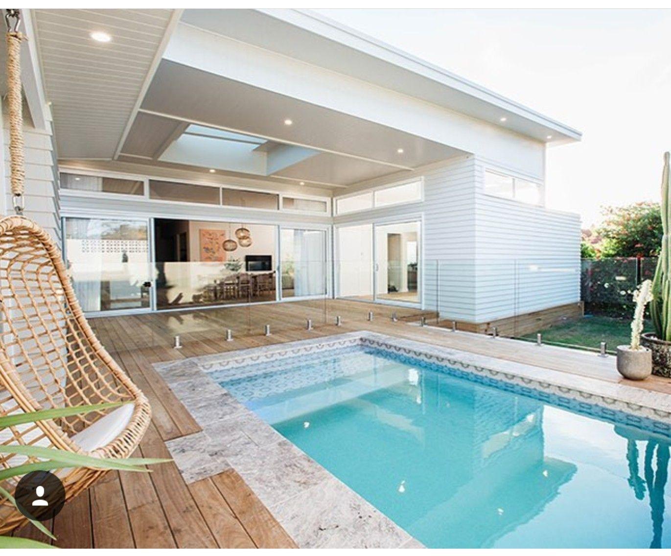 I like the glass fence for backyard pool | Back Yard Ideas ...