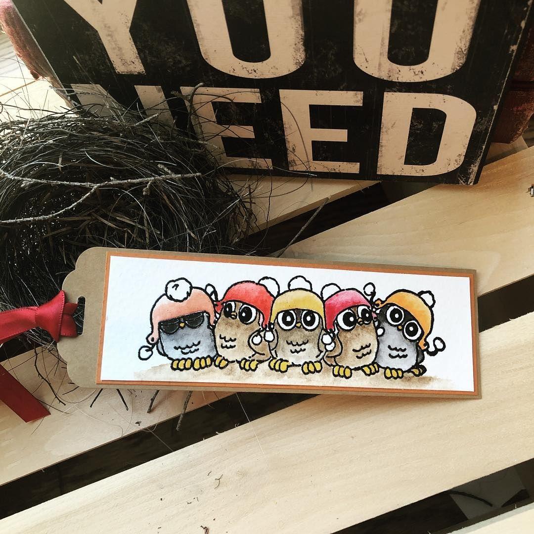 Art impressions 5 whoots handmade owl bookmark tag art