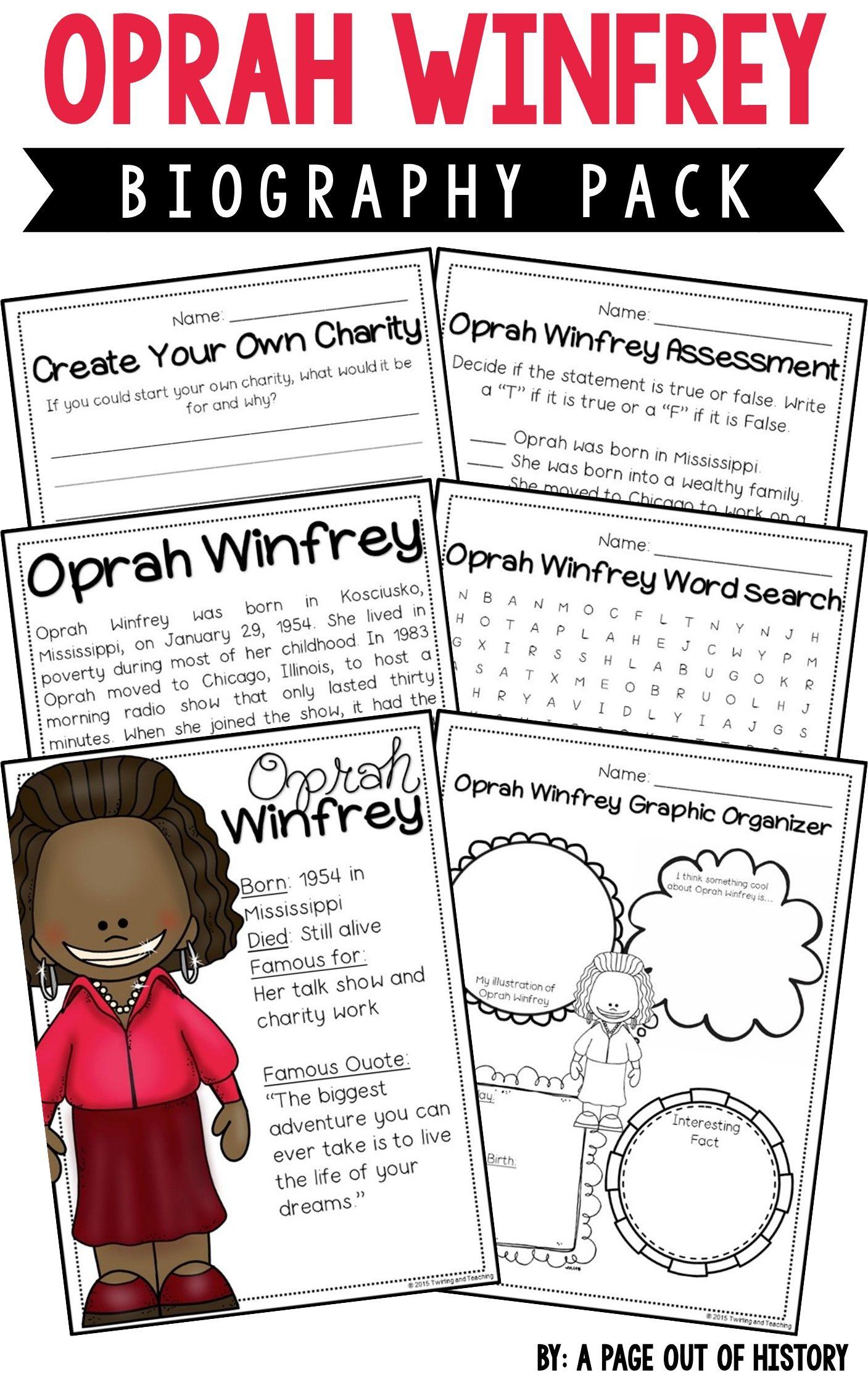Oprah Winfrey Biography Pack
