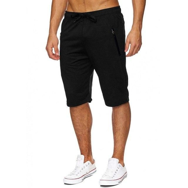 f514c86d7a930e New 2018 Summer Men s Knee Length Drawstring Shorts Casual Joggers  Bodybuilding Gyms-clothing shorts Men Bermuda masculina