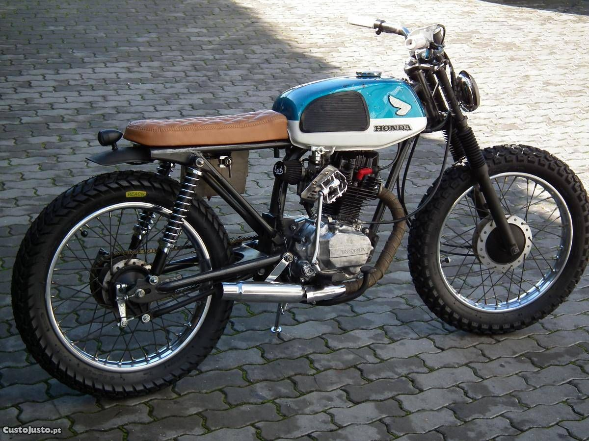 portuguese lab motorcycles honda cg 125 small displacement cafe racers pinterest. Black Bedroom Furniture Sets. Home Design Ideas