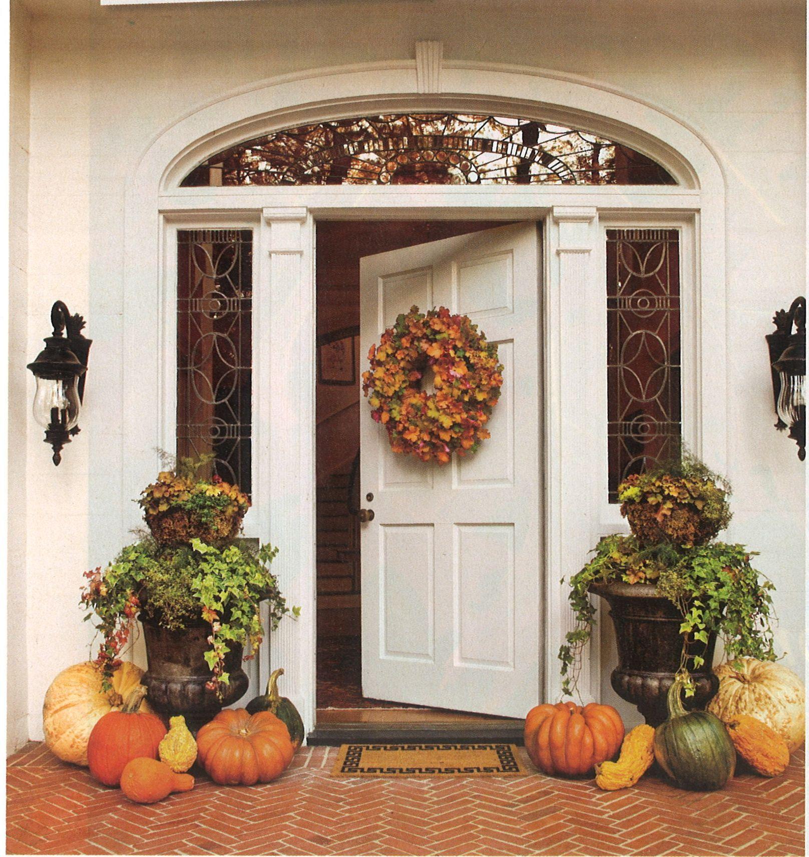 Hgtv Front Door Fall Decorations: Fall Decor Front Door Pumpkins