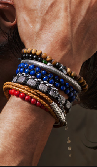 Style Tip: When stacking bracelets - mix metals, textures ...