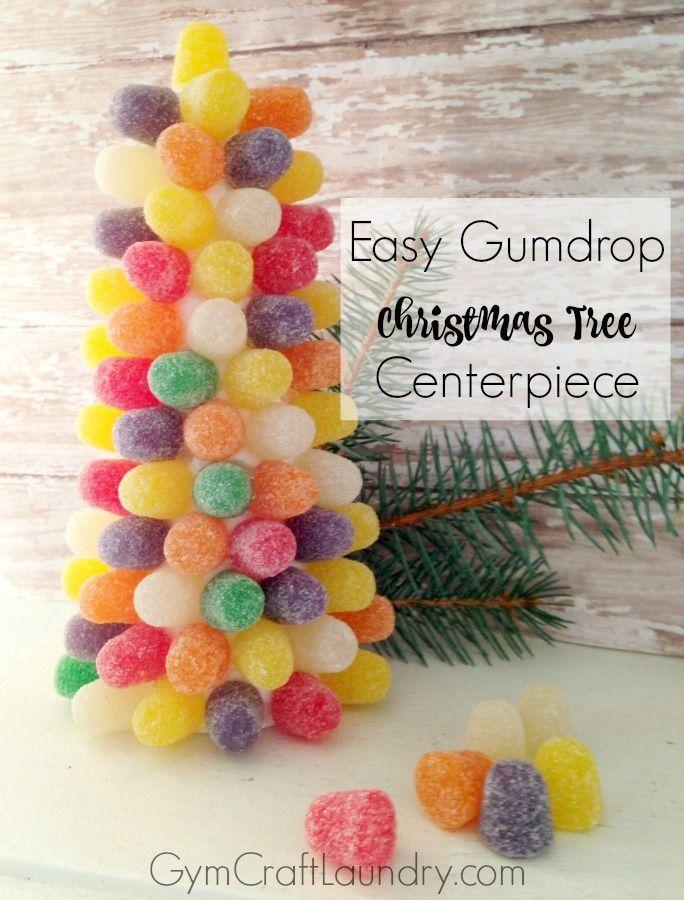Diy Gumdrop Christmas Tree Centerpiece Gym Craft Laundry Homemade Christmas Tree Christmas Ornament Crafts Tree Centerpieces