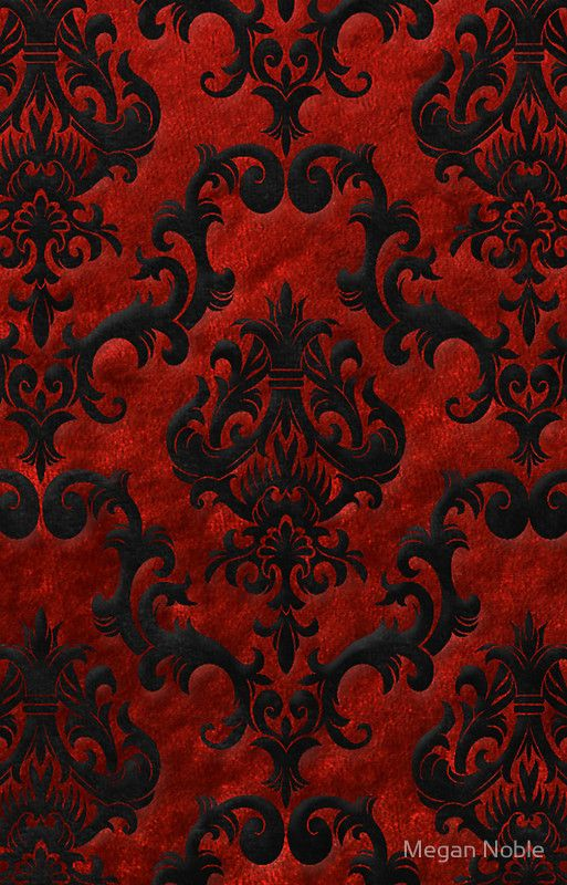 Wallpaper Red And Black Pattern