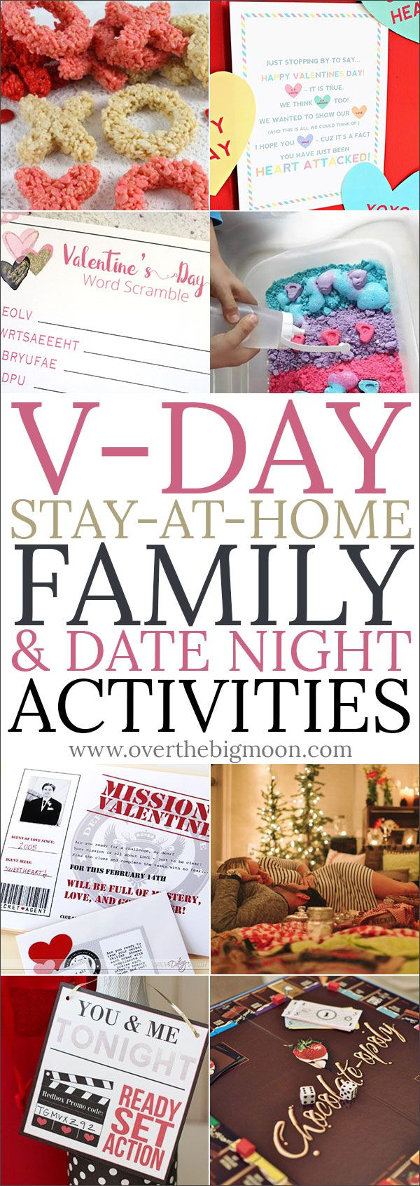 Valentine\'s Day Stay at Home Family & Date Night Activities from ...