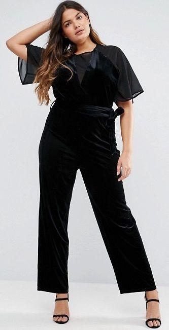 00bef920142 Plus Size Velvet Jumpsuit