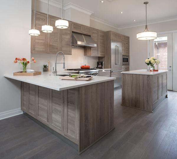 Medium Sized Mid Century Modern Kitchen Idea In Alexandria, Virginia With  Medium Oak Wood Finish Recessed Panel Cabinets And Stainless Steel  Appliances.