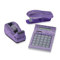 Rhinestone Desk Set - Purple - Bed Bath & Beyond