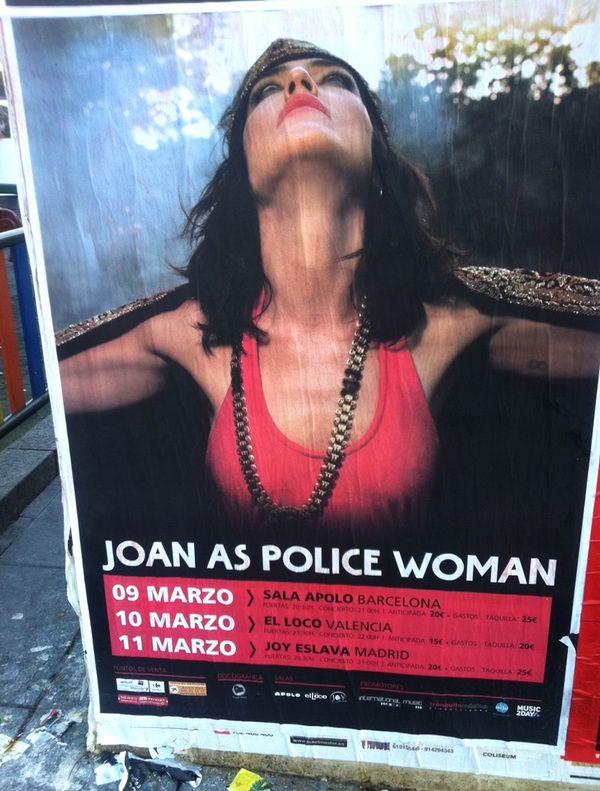 Uaw! @JOANPOLICEWOMAN En marzo estará en Barcelona, Valencia y Madrid ¡quedan entradas! (http://goo.gl/KeMpj)