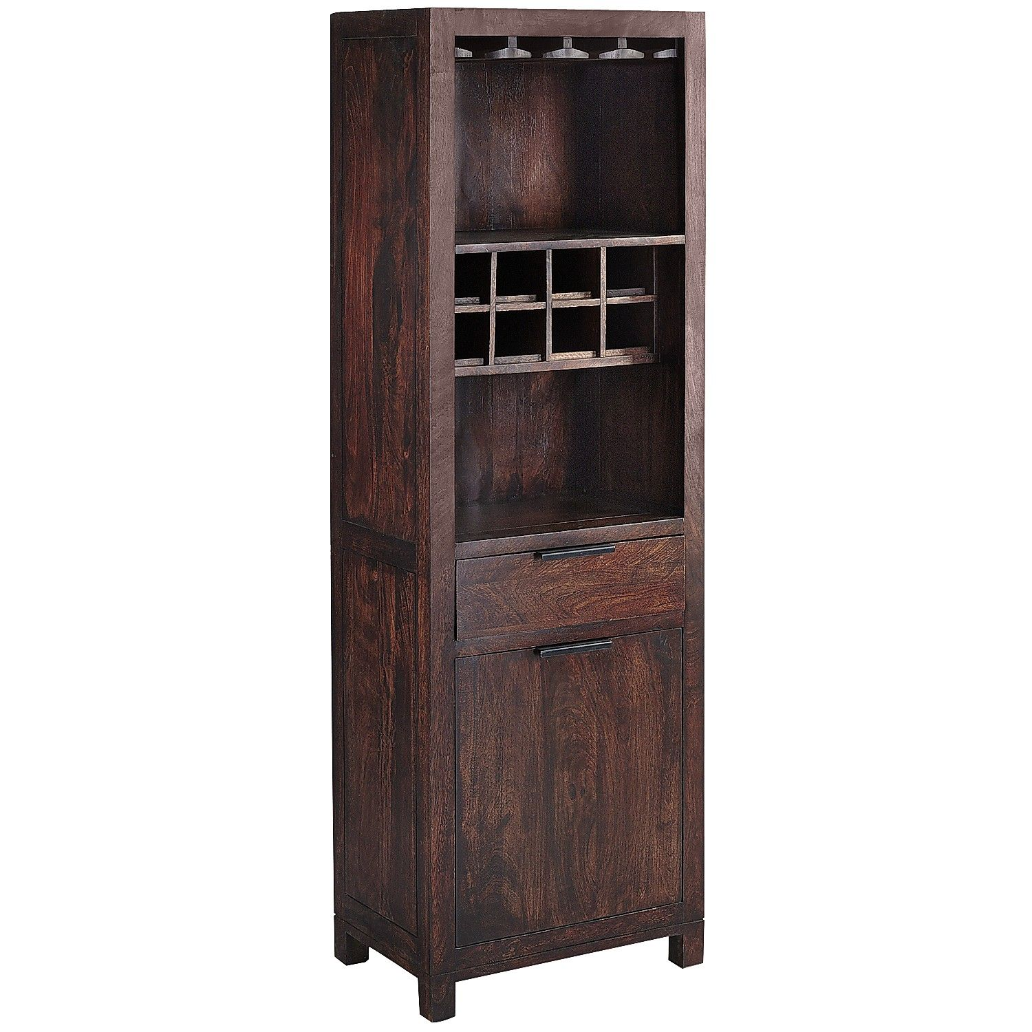 Parsons Wine Cabinet  Tobacco Brown  Iron