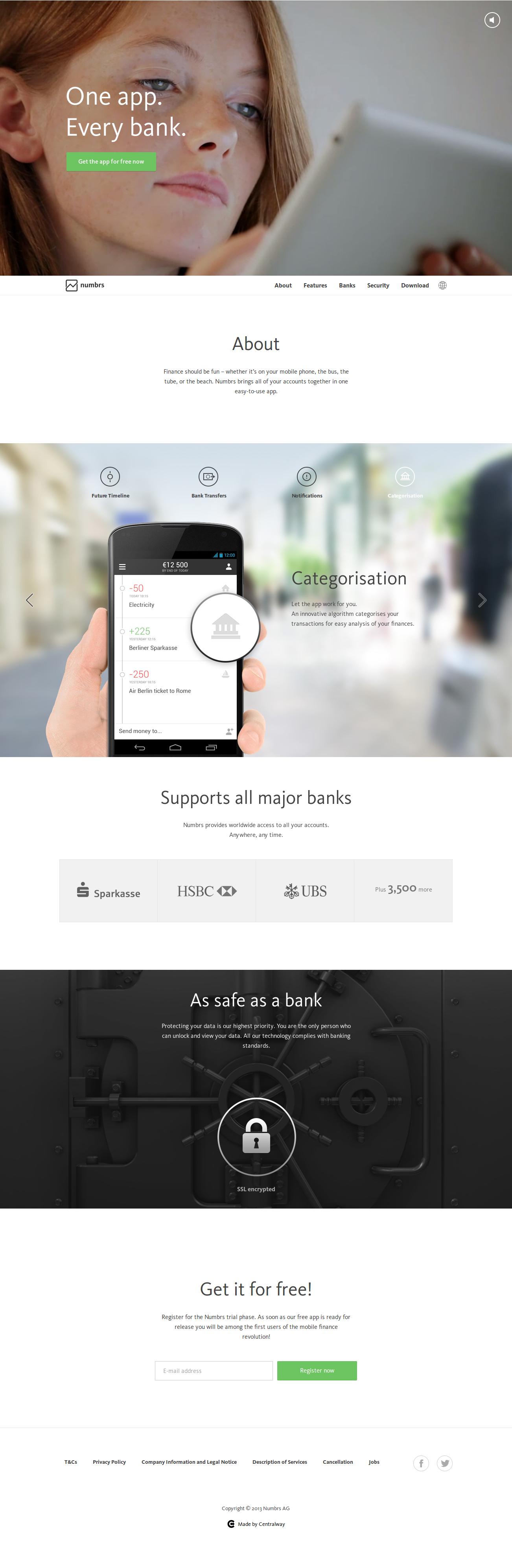 Online Banking App Numbrs Web Development Design Fun Website Design Web Design
