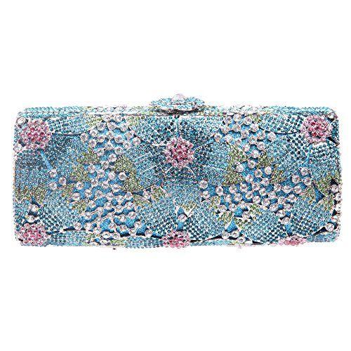 Fawziya Flower Purses With Rhinestones Crystal Evening Clutch Bags
