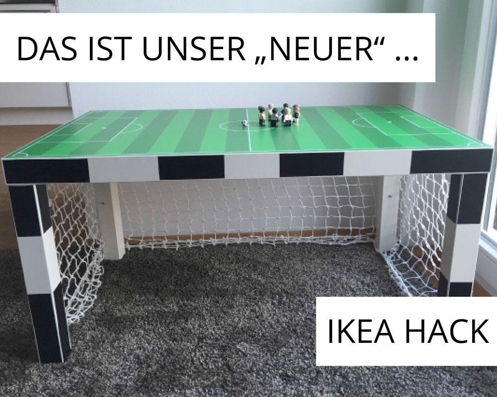 Küchentisch Ikea ~ Fußballzimmer: ein ikea lack tisch wird zum fußballtor ikea hack
