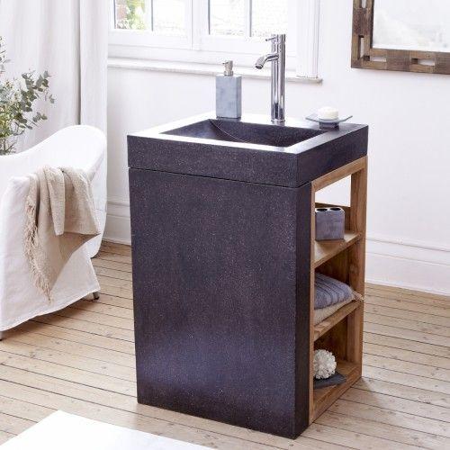 Möbel mit eingebautem Waschbecken – Waschtische aus Teak Mary Loub ... | {Gästebad möbel 53}