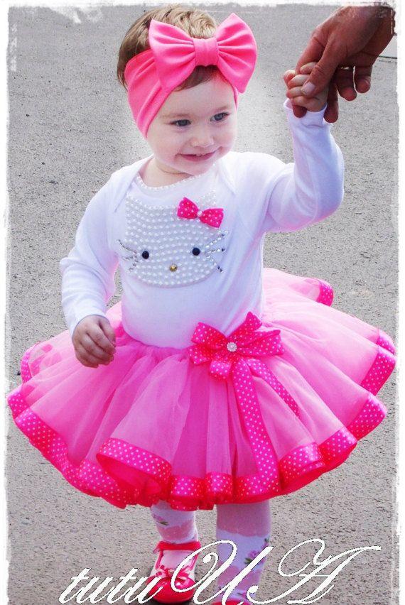 Hello Kitty cumpleaños Tutu conjunto de chicas por TutuUA en Etsy ...