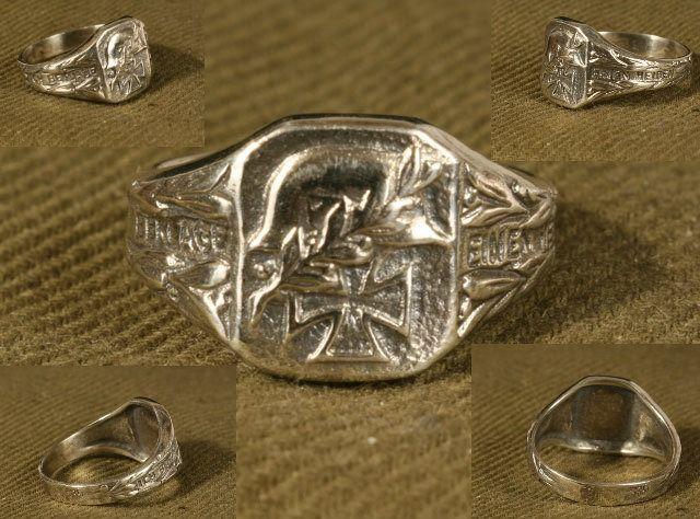 German WW2  Silver Ring Wehrmacht Heer Commemorative - $99.99 #onselz