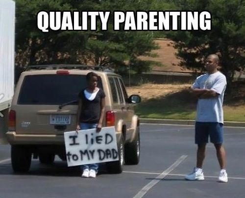This Dad deserves a high five!.....omg my dad would of sooo done this! makes me laugh thinking about him!