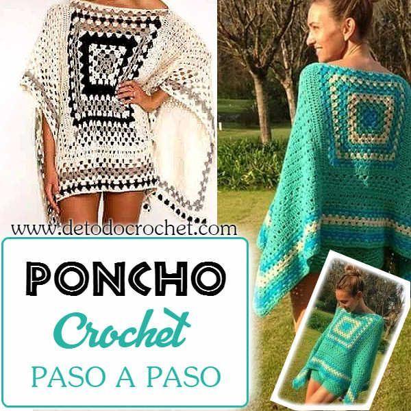 Todo crochet | Tejidos | Pinterest | Puntos, Ponchos y Tejido