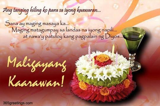 Tagalog Birthday Greetings Jpg 540 360 Birthday Message For