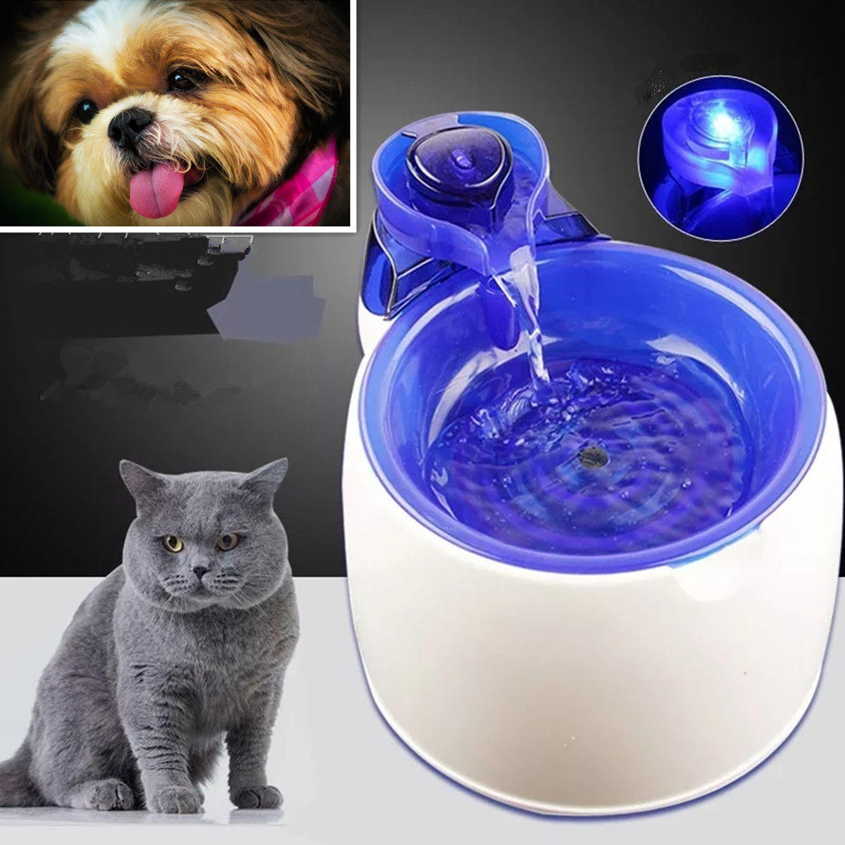 3L Electric Automatic Pet Water Fountain Dog Cat Drinking