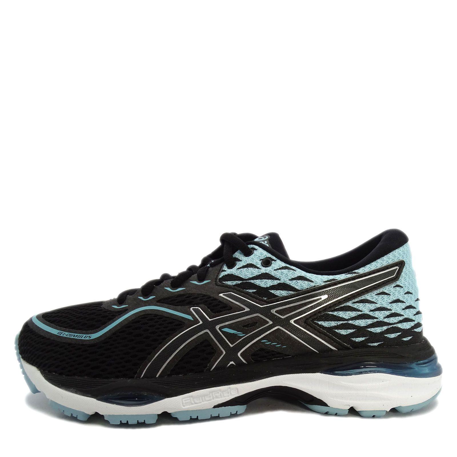 138 95 Asics Gel Cumulus 19 D T7b9n 9014 Women Running Shoes Black White Aqua Asics Cumulus T7 Womens Running Shoes Black Running Shoes Women Shoes