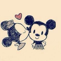 Minnie Mickey Mouse Dibujos De Amor Dibujos Faciles De Amor