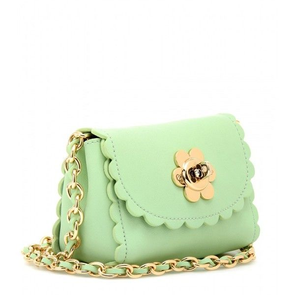 Mulberry Flower Mini Leather Shoulder Bag ( 705) ❤ liked on Polyvore 3caf0e750eb42