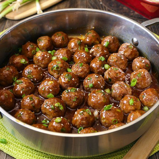 Saucy Teriyaki Meatballs are bursting with flavor in an easy recipe that comes together with just a few ingredients.