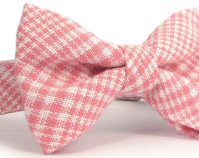 d61463937a5e I love this bow tie and dog collar in a vivid plaid with lots of personality