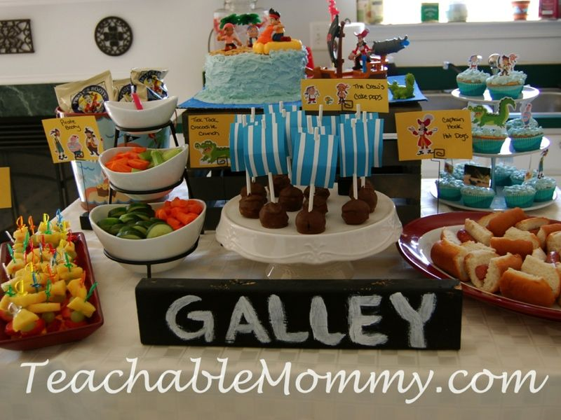 Jake and The Neverland Pirates Birthday Party | Pirate food ...