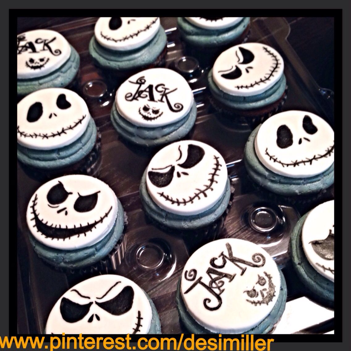 Nightmare Before Christmas Cupcakes With Images Nightmare