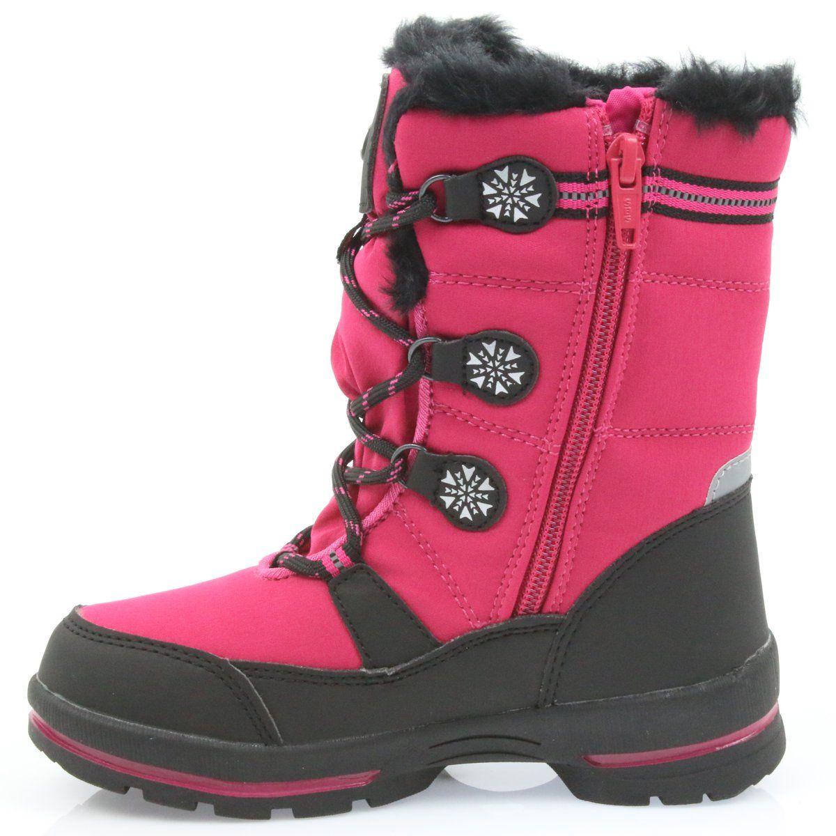 Kozaki Dla Dzieci Americanclub American Club Buty Z Membrana American 702sb Rozowe Boots Shoes Winter Boot